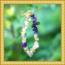 櫻花草‧<br>幸福圓滿雙色手串