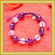 智慧之泉紫白手串